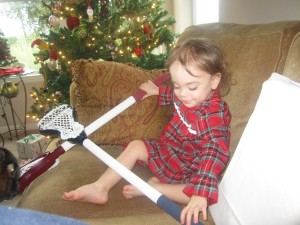 Jada Reese got Lacrosse sticks from Santa